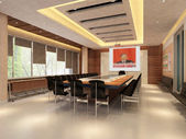 De computer gegenereerde afbeelding van de moderne conference hall — Stockfoto
