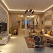 Stock Photo: modern living room interior 3d render