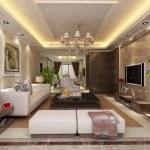 Modern living room interior 3d render — Stock Photo #5572119