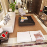 Modern living room interior 3d render — Stock Photo #5572197