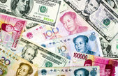 Currencies of various nations . — Stock Photo