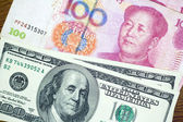 Dollar USA vs RMB Chinese Crisis Economic of the world — Stock Photo