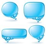 Aqua speech bubble set — Stock Vector