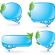 eco speech bubble set — Stock Vector