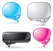 Color speech bubble set — Stock Vector