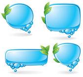 Eco speech bubble set — Stock Vector