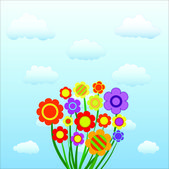 Flowers in the sky — Stock Vector