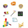 Set of vector design elements 3D icons — Stock Vector
