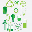 Vector-set of environmental icons and design-elements — Stock Vector