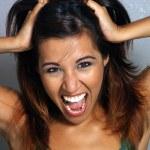 Beautiful Latina, Headshot (5) — Stock Photo