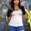 Beautiful Female Boxer (2) - Stock Photo