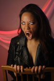 Multiracial Female Vampire (1) — Stock Photo
