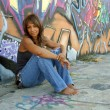 Stock Photo: Beautiful Mature Black Woman with Graffiti (7)