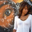 Stock Photo: Beautiful Mature Black Woman with Graffiti (8)