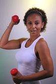 Beautiful Mature Black Woman Workout (1) — Stock Photo