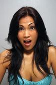 Beautiful Surprised Asian Girl — Stock Photo