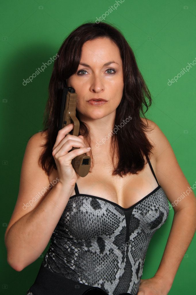 Were prepared busty brunette with gun brothers