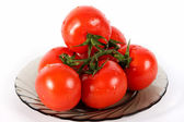 Tomato on a plate — Stock Photo