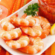 Festive Shrimp Cocktail — Stock Photo