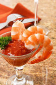 Tasty Shrimp Cocktail — Stock Photo