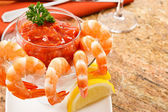 Fresh Shrimp Cocktail — Stock Photo