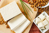 Soybeans with Tofu — Stock Photo