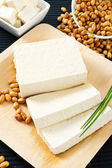 Tofu and Soybeans — Stock Photo