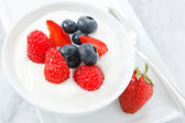 Summer Fruit and Yogurt — Stock Photo