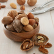 Stock Photo: Mixed Nuts with Nutcracker