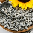 Stock Photo: Sunflower Seeds in Hull