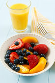 Fresh Colorful Fruit Salad — Stock Photo