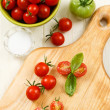Overhead View of Ripe Cherry Tomatoes — Stock Photo