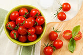 Overhead View of Red Cherry Tomatoes — Stock Photo