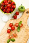 Overhead View of Ripe Cherry Tomatoes — Stock Photo
