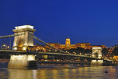 Budapest night scene #2 — Stock Photo