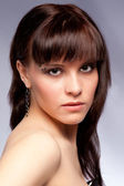Portrait of beautiful girl, studio — Stock Photo