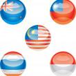 Stock Vector: Flag buttons