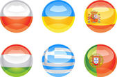 Flag buttons — Stock Vector