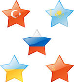 Flags star — Stock Vector