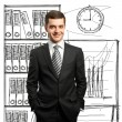 Businessmin suit — Stockfoto #5423325