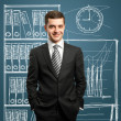 Businessman in suit — Stock Photo