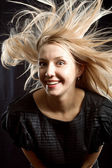 Pretty woman with beautiful hair — Stock Photo
