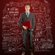 Stockfoto: Male in suit with laptop in his hands