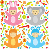 Little babys — Stock Vector
