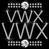 钻石字母与宝石 05 — 图库矢量图片