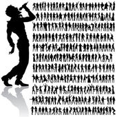 Dançando e cantando o conjunto grande — Vetorial Stock