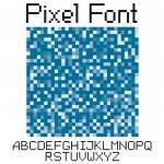 Pixel font — Stock Vector #5628938