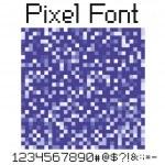 Pixel font — Stock Vector #5628940