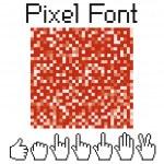 Pixel font — Stock Vector #5628942