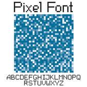 Pixel font — Stock Vector